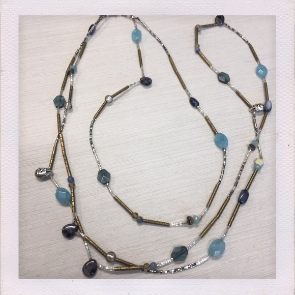 Silpada Jewelry - Silpada Brass, Silver, & Labrodite Necklace